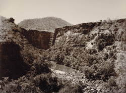 General view of the valley, [Ajanta]